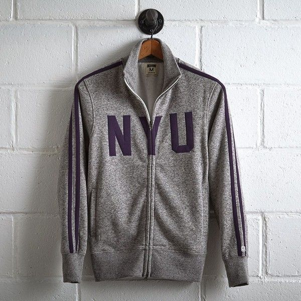 Tailgate NYU Track Jacket ($70) ❤ liked on Polyvore featuring men's fashion, men's clothing, men's activewear, men's activewear jackets and purple