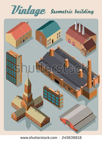 #isometric #church #building #vector #illustration #shutterstock #cute #architecture #house #collection #3d