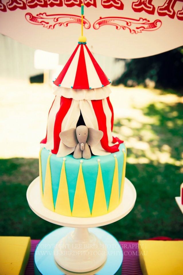 carnival theme cake- good little kid birthday theme