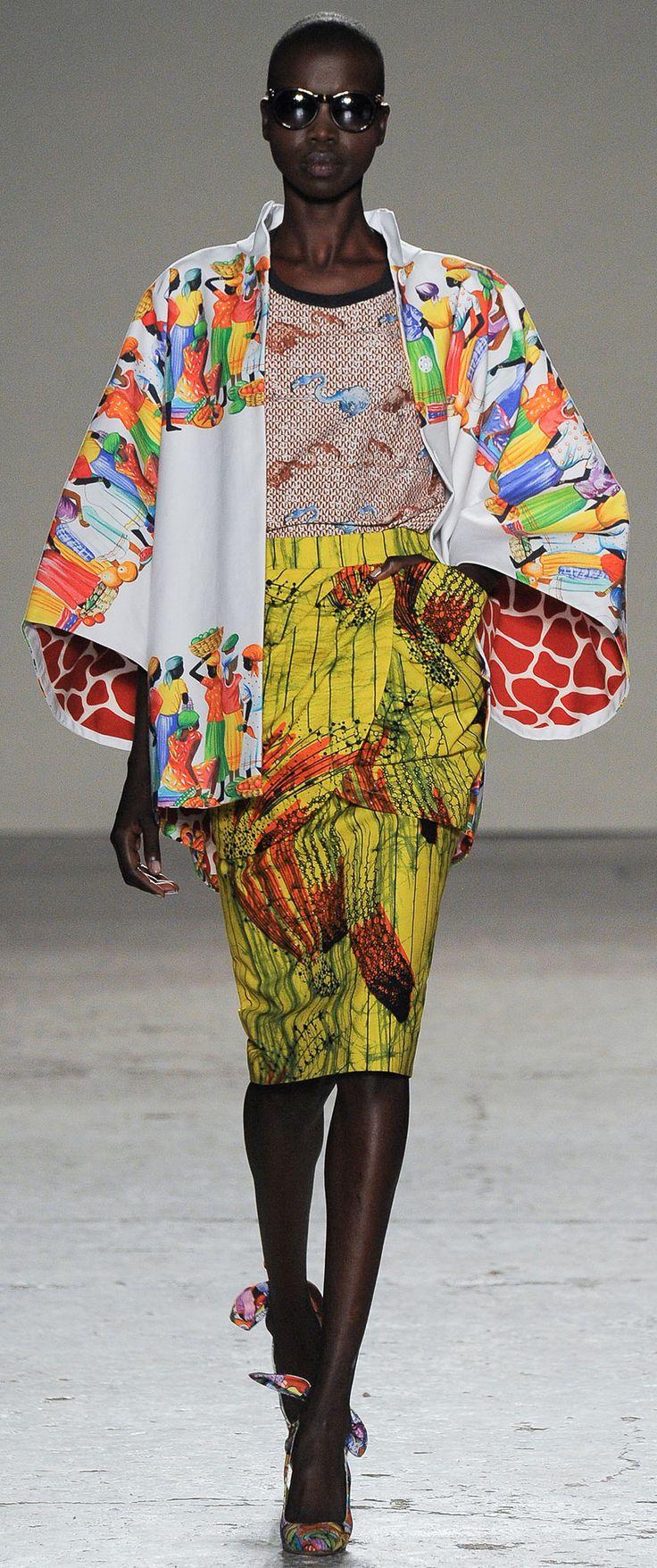 www.cewax.fr aime Stella Jean - Spring 2015. I would so love to wear this!!!