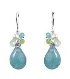 Blue Quartz Mix Earrings