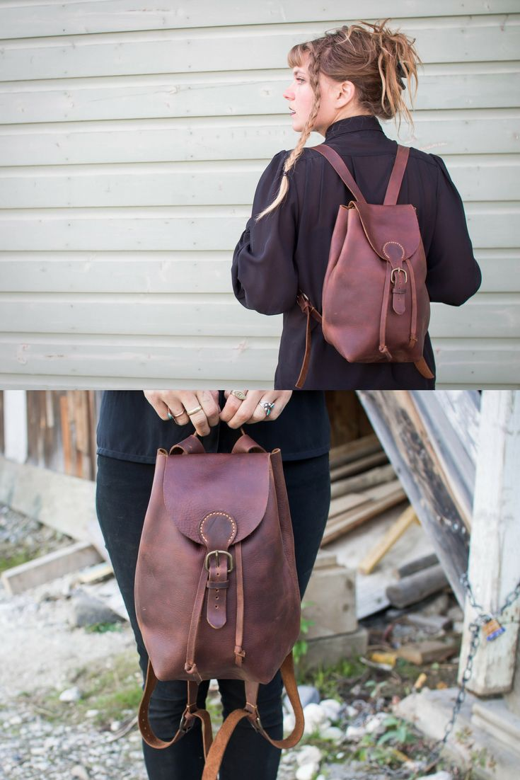 Handmade Leather Backpack #leatherbackpack #smallbackpack #distressedleather #backpack #hipsterbackpack