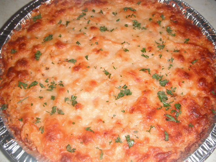 My DIY Spaghetti Pie.. I got the recipe from Divas Can Cook You Tube Channel.. It was so good.. I made 2 and cut them in 4's and froze them... Fast Meal on the Weekends..