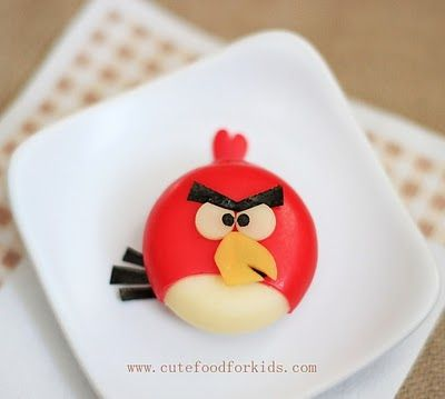 Angry Birds Cheese - 25 Ways to Put a Creative Twist on School Lunches
