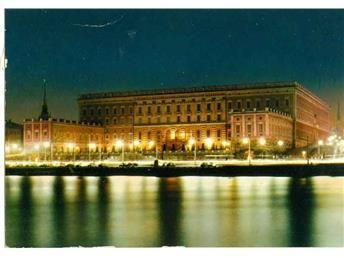 Stockholms slott i mörker
