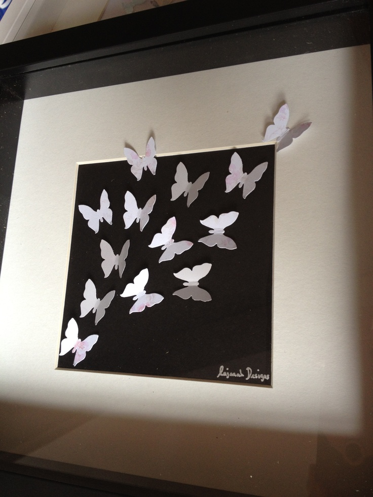 Butterfly picture in box frame
