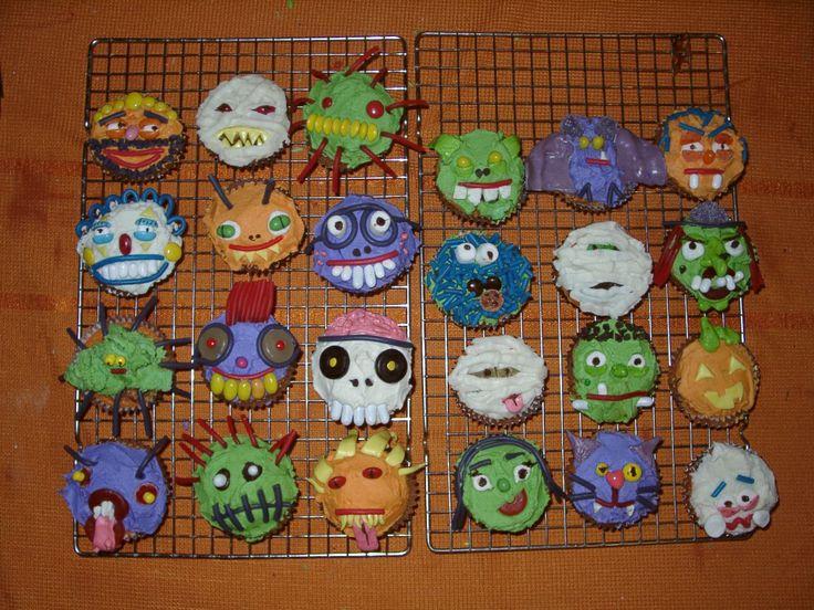 simple halloween cupcake ideas decorated