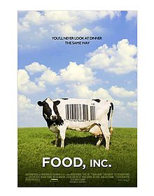 Food Inc is a very jarring movie in that it shows you what is very wrong with our agricultural system. Saw it last night and it scared me