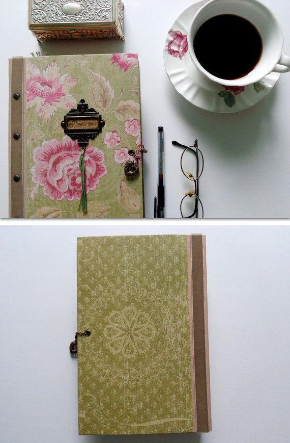 Romantic scrapbook photo album for your Valentine. Paper bag