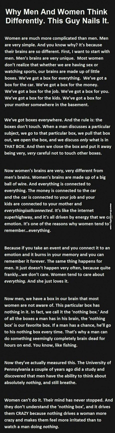 How women and men think
