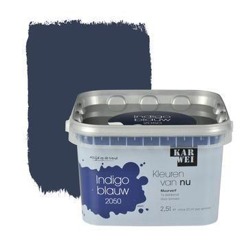 KARWEI Kleuren van Nu muurverf mat indigoblauw 2,5 l kopen? Verfraai je huis & tuin met Muurverf kleur van KARWEI