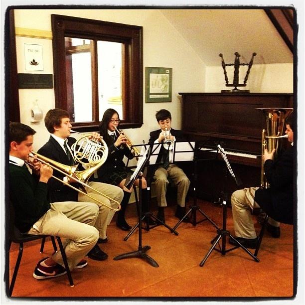 #halifaxgrammar warm up for band concert ! - @khwturner- #webstagram
