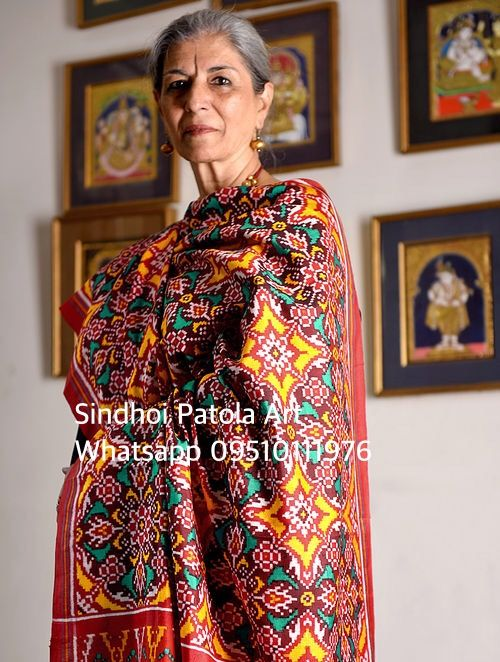 Exclusive #Patanpatola Saree by Sindhoi Details call or whatsapp 09510111976