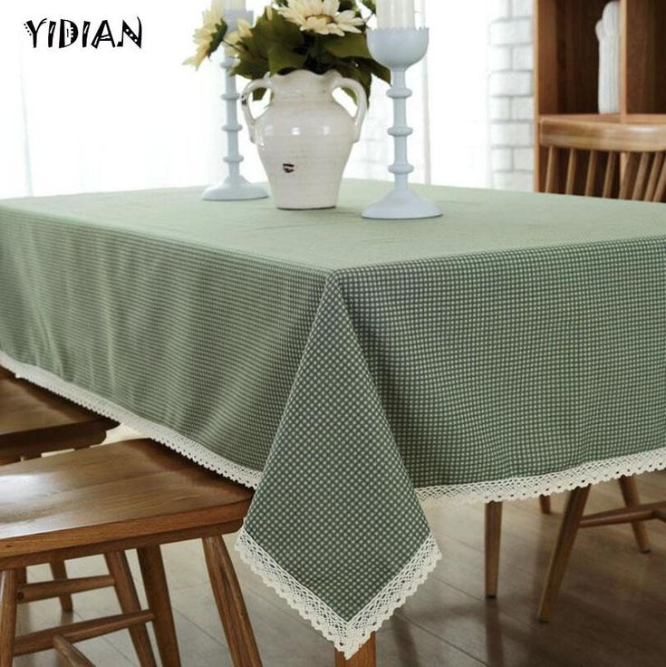 Yidian Fresh Style High Quality Printed Table Cloth Decorative Elegant Table Cloth Linen Table Cover Dining