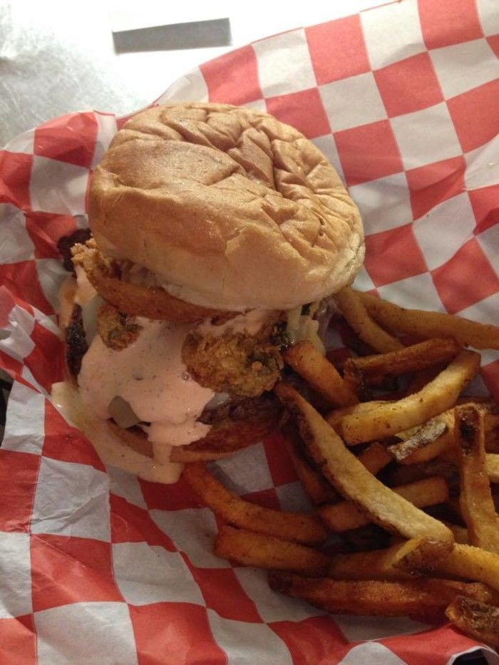 "8.) Irmas Burger Shack-OKC.   As Irma says, ""Ain't nothing a good burger and a cold beer can't cure.""   Stop by and grab the famous ""No Name Burger""...some of the best beef in the state."
