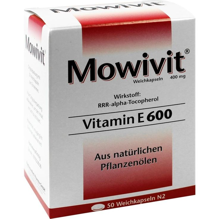 MOWIVIT Vitamin E 600 Kapseln: Mowivit Vitamin E 600 hochdosiert mit 600 I.E. zum Ausgleich eines Vitamin-E-Mangels für den täglichen…
