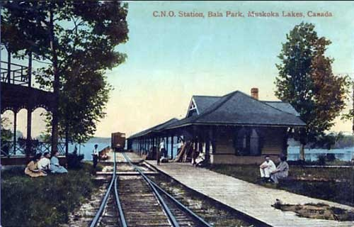 Canadian Northern Railway station in Bala, Ontario c. 1913.
