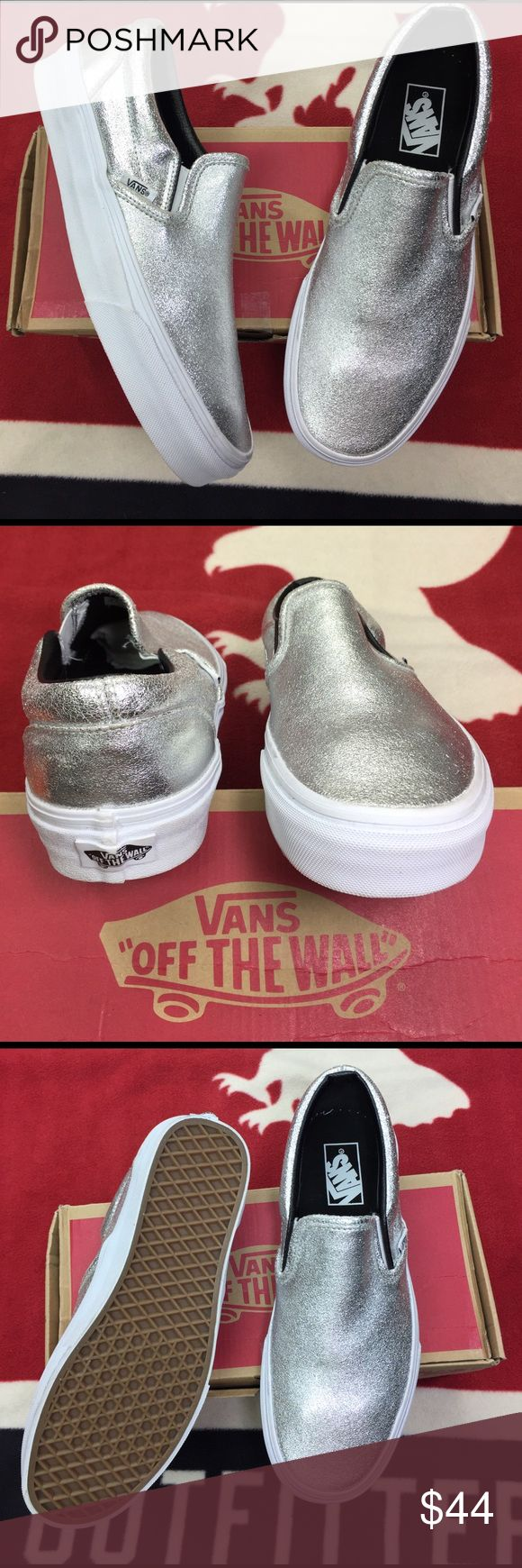 Vans Classic Slip On Bajas' The Classic Slip-On features a low profile upper, padded collar and heel counter, elastic side accents, and signature waffle outsoles. Vans Shoes