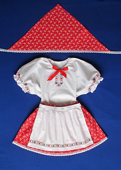 b26b67e0040d Dievčenský kroj 98-134 sukňa+zásterka+košieľka+šatka   Tanja.L ...