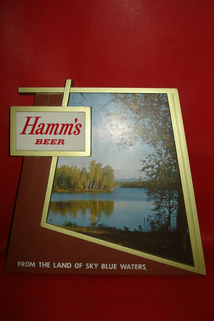 HAMMS BEER advertising sign vintage $100