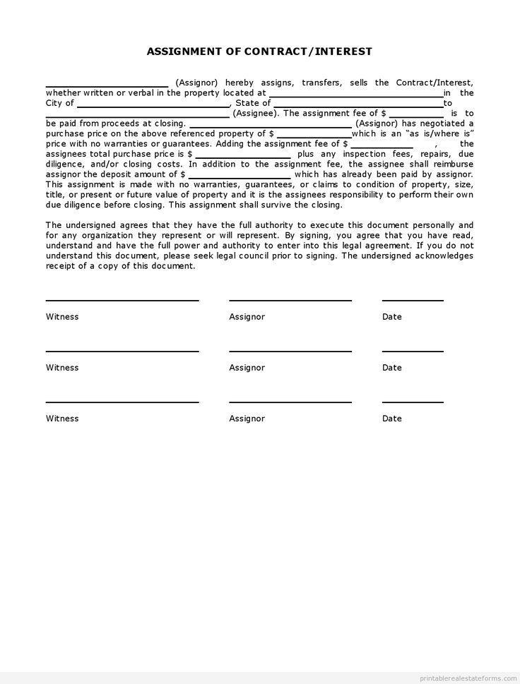 Assignment Agreement Law and Legal Definition