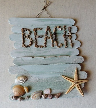 Great way to use popsicle sticks & shells