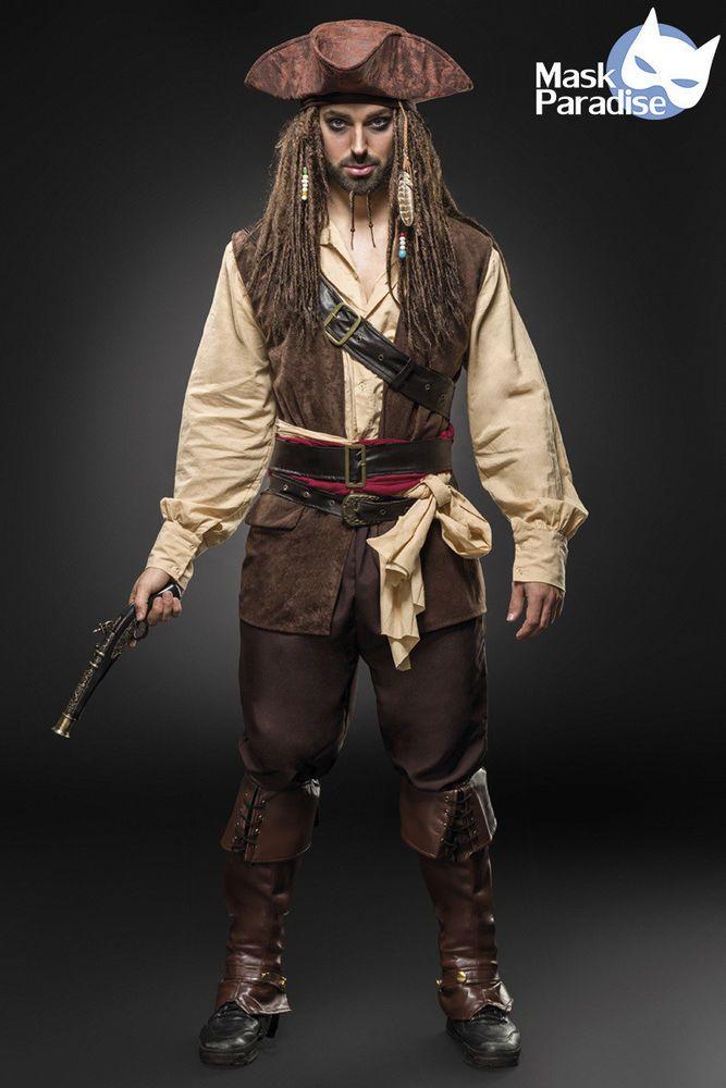 Piratenkostüm Kostüm Gothic Fasching Karneval Herren Verkleidung Halloween NEU