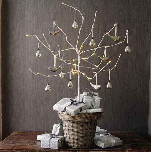 Árbol de #Navidad sin hojas y con #Peras. Decora tu casa con propuestas originales.