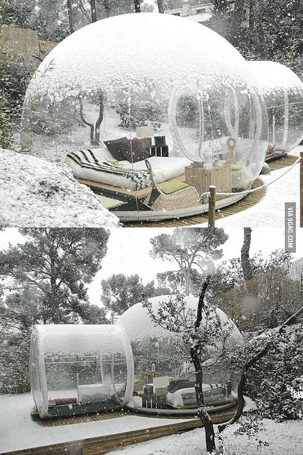 Just a nice little place to watch the snow come down.