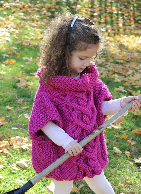 KNITTING PATTERN The Kate Pullover Poncho by theknittingniche