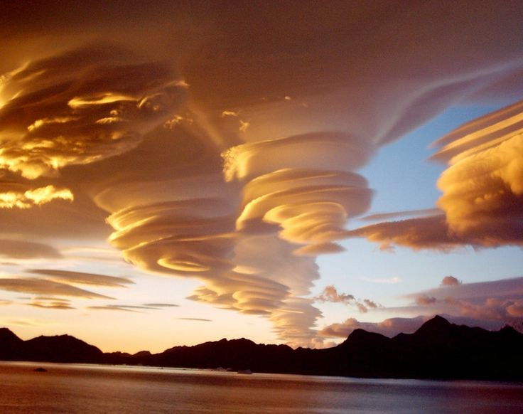 Lenticular clouds  These clouds in northern Georgia, USA are a rare natural phenomenon.