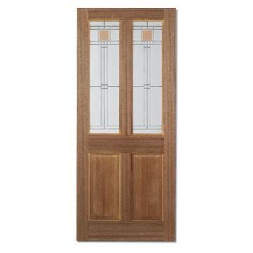 Image of Richmond Classic Mahogany Door - Leaded Single Glazing