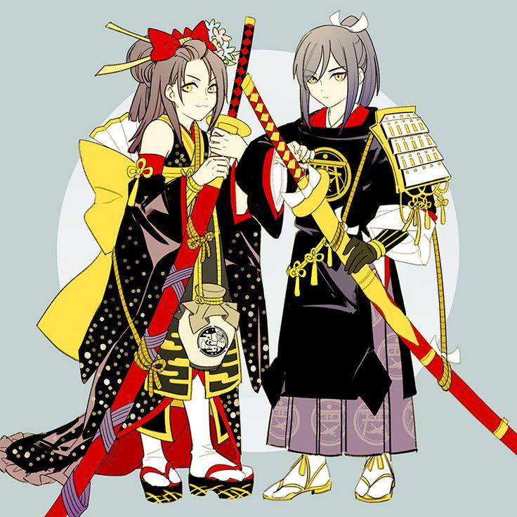 Jiroutachi and Taroutachi   Touken Ranbu
