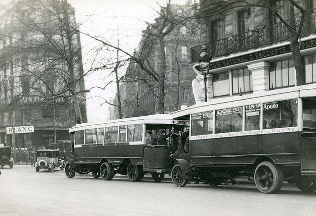 Paris, 1927 - Bus, ligne Saint-Fargeau/Louvre (Stockholm Transport Museum Commons)