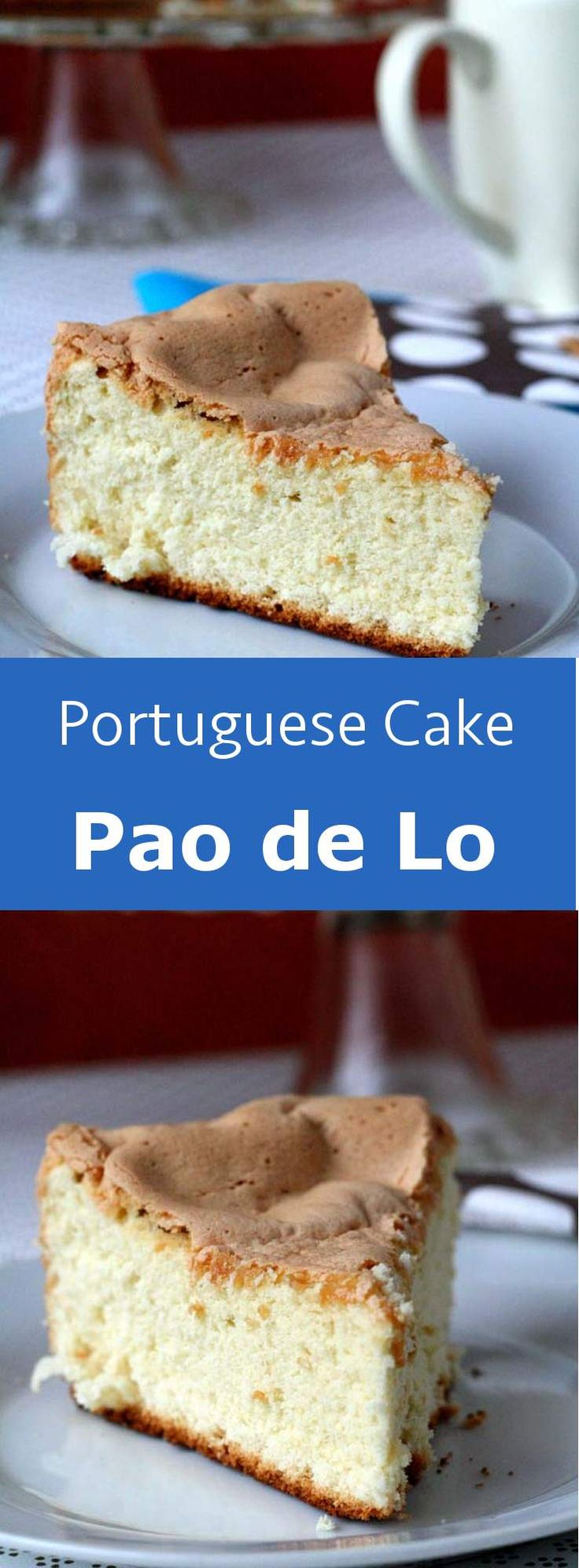 A famous Portuguese airy cake with multiple global and regional variations, pão…