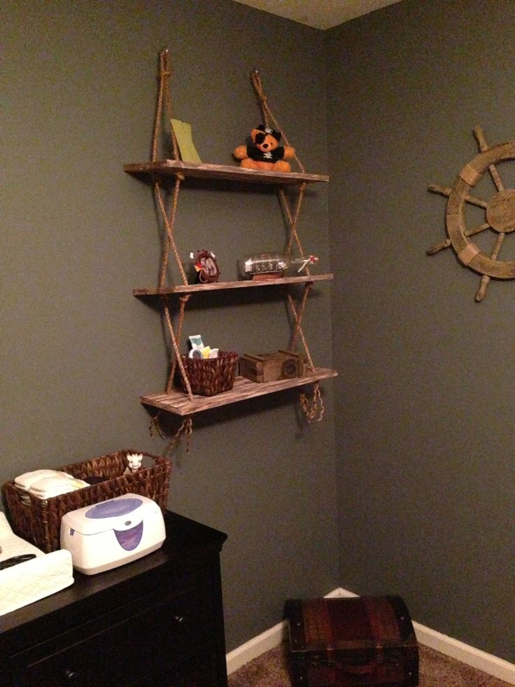 Rustic Shelves Pirate Nursery Pinterest Shelves