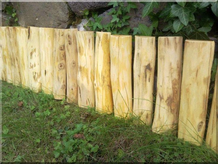 Félhasábos akác fa ágyásszegély, 20 cm - Kerti szegély