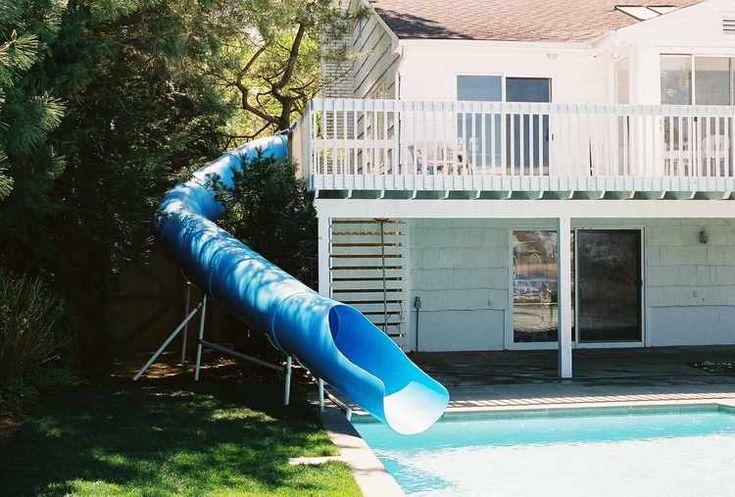 Home swimming pools with slides example - Commercial above ground swimming pools ...