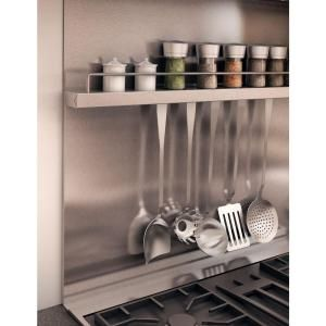 inoxia delta 30 in x 32 in stainless steel backsplash