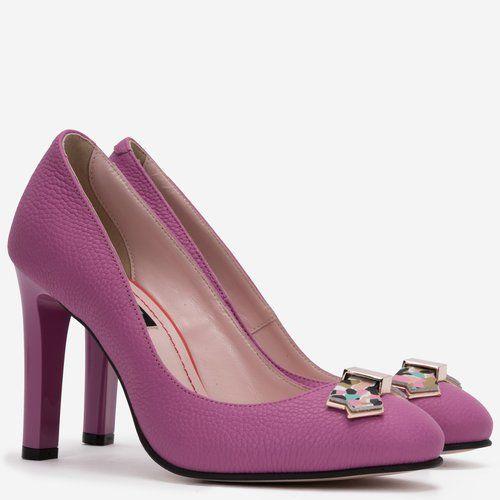 Pantofi din piele naturala fucsia Iuliana