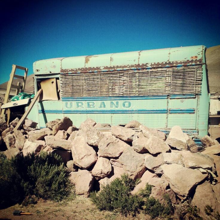 Broken Bus in the Desert