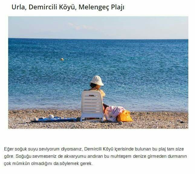 Urla, Demircili Köyü, Melengeç Plaji