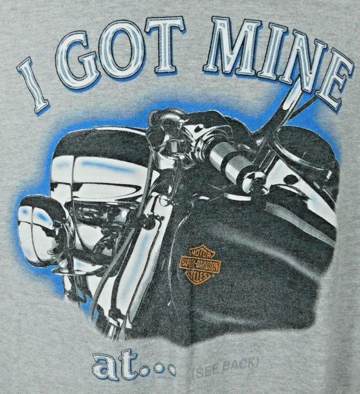 I Got Mine at Sheltons Harley Davidson Goldsboro NC Graphic T-shirt Large Gray | Clothing, Shoes & Accessories, Men's Clothing, T-Shirts | eBay!
