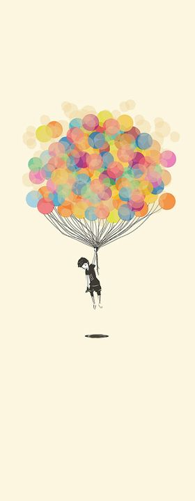 baloons...this could be a cute poster idea but doing the balloons with child fingerprints