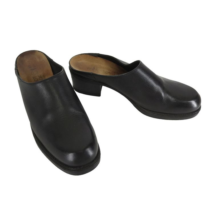 Loafers Woman 55 US/36 EU Black Leather