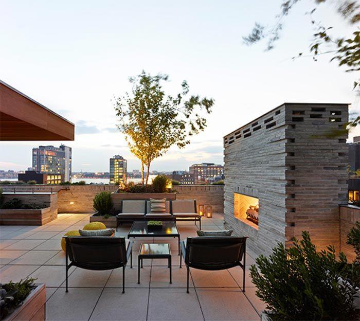 Un tico perfecto y elegante con terraza en el tejado en for Terrazas en azoteas pequenas