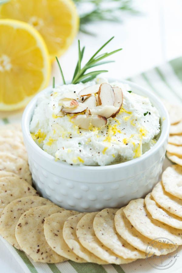 Lemon Rosemary Whipped Goat Cheese - an impressive appetizer made with only a few simple ingredients!