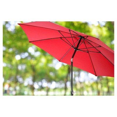 AE Outdoor Market Umbrella 10' - Canvas Jockey Red