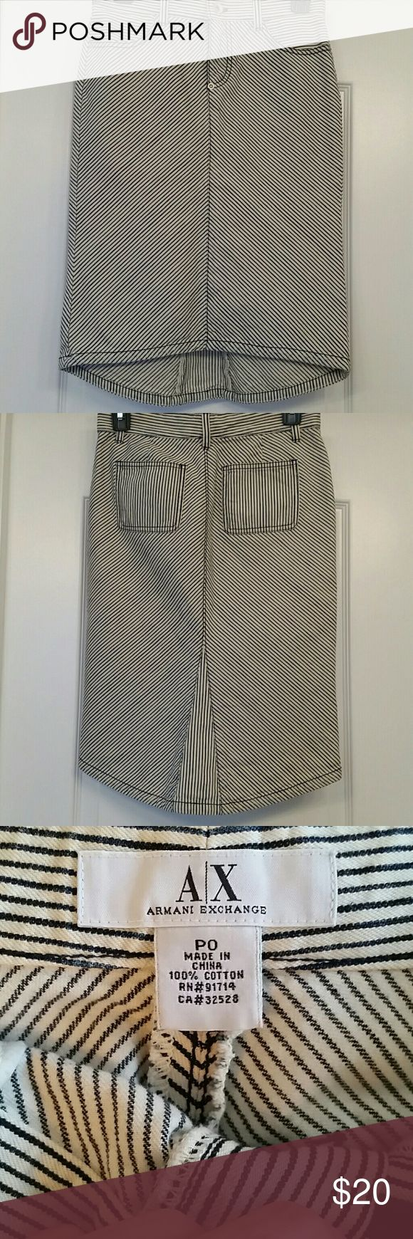 RESERVED*** Armani Exchange Skirt Beautiful Armani Exchange Jean skirt Armani Exchange Skirts High Low