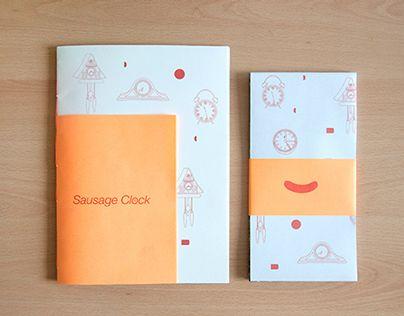 """다음 @Behance 프로젝트 확인: """"Sausage Clock"""" https://www.behance.net/gallery/17851925/Sausage-Clock"""
